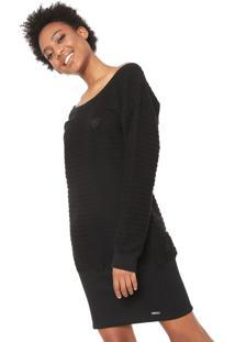 Vestido Preto Roxy feminino  95841330e9ffc