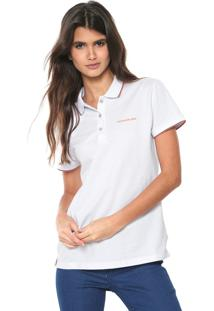 Camisa Pólo Calvin Klein Manga Curta feminina  03e70c504e7e8