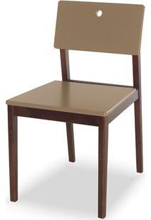 Cadeira Flip Cacau E Marrom Média