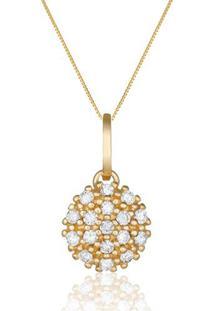 Pingente Ouro Amarelo Diamantes