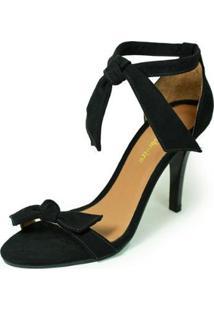 Sandália Salto Alto Fino Luiza Sobreira Nobuck - Feminino