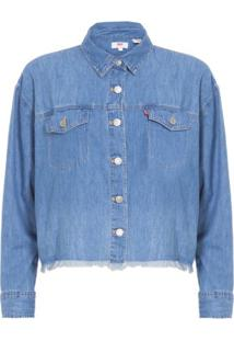 Camisa Jeans Desfiada Ash Levi'S Women'S - Azul