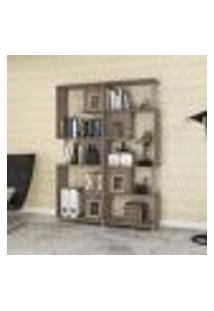 Estante Decorativa Com 7 Nichos E 3 Prateleiras - Rústico