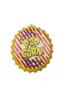 Enfeite Decorativo Tampa Popcorn Cor Amarelo Plástico 27X27