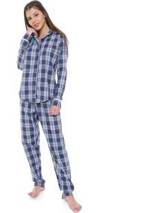 Pijama Laibel Xadrez Azul
