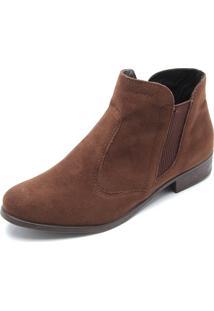 Bota Chelsea Dafiti Shoes Lisa Marrom