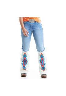 Calça West Dust Colbie Etnico Bootcut Jeans Medio