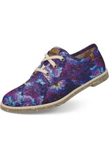 Oxford Usthemp Legend Vegano Casual Estampa Floral Roxo