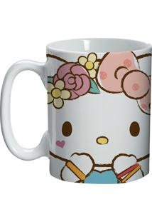 Caneca De Cerâmica Branca Hello Kitty Lace Urban Home
