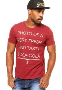 Camiseta Coca-Cola Jeans Photo Vinho