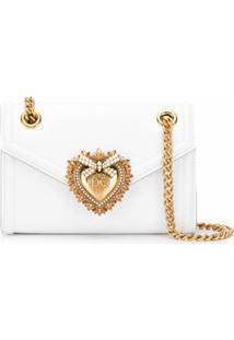 Dolce & Gabbana Bolsa Tiracolo Devotion Mini - Branco