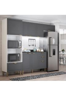 Cozinha Completa 5 Peças Americana Multimóveis 5698 Branco/Grafite