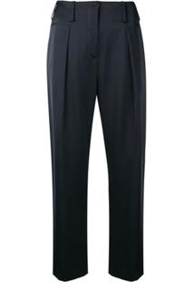 Lanvin Cropped Tailored Trousers - Azul