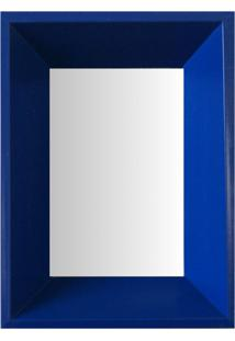 Espelho Moldura Madeira Lisa Fundo 16204 Azul Art Shop