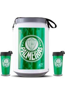 Kit Torcedor Palmeiras Cooler E Copos - Unissex-Verde