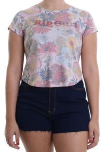 Camiseta Rip Curl Baby Look Island Time - Rosa / P