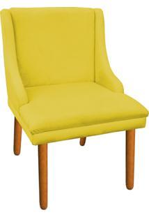 Cadeira Poltrona Decorativa Liz Suede Amarelo - D'Rossi