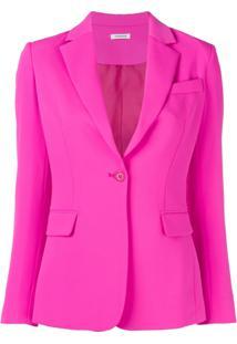 P.A.R.O.S.H. Blazer Com Abotoamento Simples - Rosa