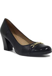 Sapato Feminino Luz Da Lua Scarpin Salto Verniz