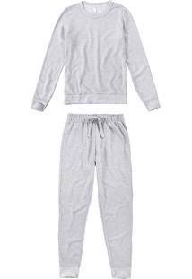 Pijama Longo Moletinho Flamê