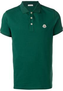 Moncler Camisa Polo Com Patch De Logo - Verde
