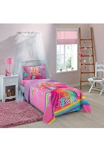 0ef04a70cb ... Jogo De Cama Infantil Estampado Barbie Reino Do Arco-Íris Com 3 Peças-  Lepper