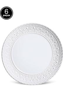 Jogo De Pratos Sobremesa 6 Pçs Greek Branco Porto Brasil