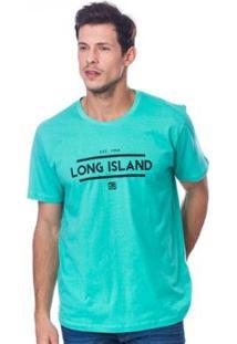 Camiseta Long Island Team Masculina - Masculino-Verde