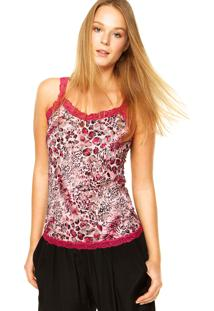 Regata Fiveblu Renda Animal Print Rosa