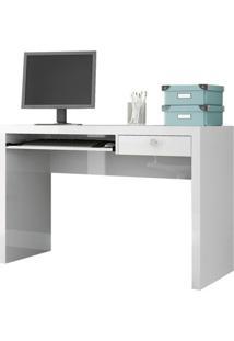 Mesa Para Computador Tc122 Em Mdf Cor Branco Brilho - 4359 Sun House