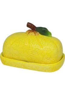 Manteigueira De Cerâmica Dalyan 16X11X10Cm - Linha Lemons