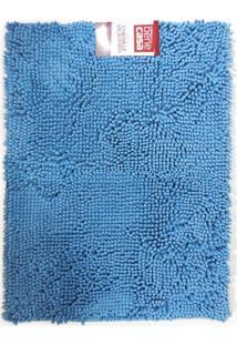 Tapete Chenille Microfibra - Bene Casa - Azul
