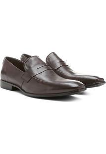 Sapato Social Couro Shoestock Gravata - Masculino-Café
