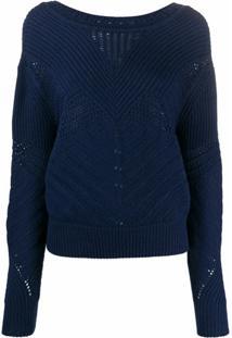Barrie Suéter Texturizado De Tricô - Azul