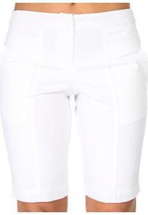 Bermuda Cleonice Lucidez - Feminino-Branco