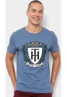 Camiseta Tommy Hilfiger Estampa New York Masculina - Masculino-Azul