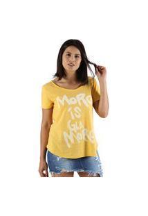 T-Shirt It'S & Co Glamore Amarelo Mescla