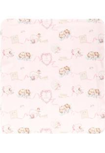Lapin House Cobertor Estampado - Rosa