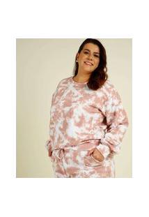Blusão Plus Size Feminino Moletinho Tie Dye Costa Rica
