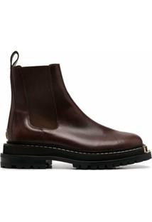 Sandro Paris Ankle Boot Noha - Marrom