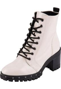 Bota Ramarim Ankle Boot Off White 34