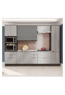 Cozinha Modulada Kappesberg Cb537 Nox 8 Peças 10 Portas Onix/Steel