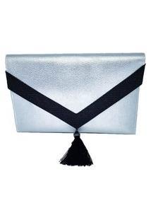 Clutch Dona Constance Envelope Prata