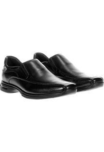 Sapato Social Democrata Air Stretch Spot - Masculino-Preto