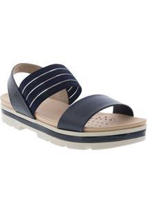 Sandália Modare Ultraconforto Plataforma Marinho A