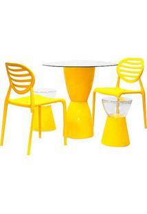 Conjunto Lounge Polipropileno Cor Amarelo - 29947 - Sun House