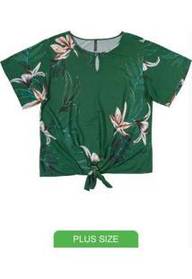 Blusa Com Estampa Floral Verde