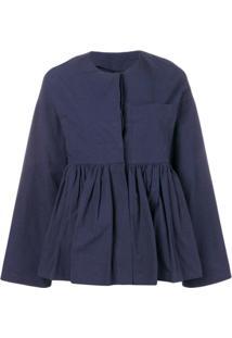 Sara Lanzi Fitted Peplum Jacket - Azul