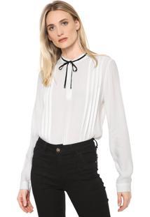 Camisa Forum Plissada Branca