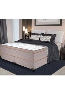 Colchão Queen Pillow Top Shinning - Pelmex - Branco / Marrom